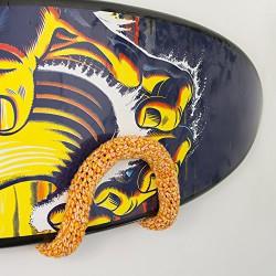 Surfboard Wandhalterung - Shortboard umhäkelt Orange