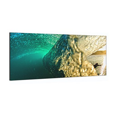 Surfhund Leinwandbild Wave Half Half