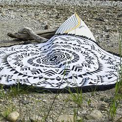 Rundes Strandhandtuch