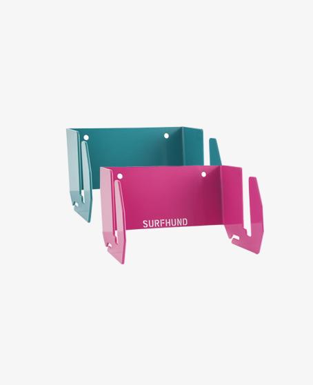 wandhalterung-longboard magenta und waterblue