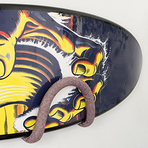Surfboard Wandhalterung - Shortboard Rot