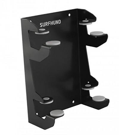 SURFHUND Longboard Wandhalterung Multi Horizontal Double: in schwarz für zwei Longboards,